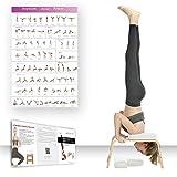 Restrial Life Yoga Kopfstandhocker, Yoga Kopfstandstuhl für Zuhause und Fitnessstudio, Holz und PU...