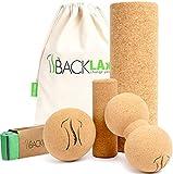 BACKLAxx® Faszienrolle Set aus Kork - Korkrolle ideal für Faszien, Rücken und Wirbelsäule -...