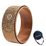 haxTON Kork Yoga Rad, Mit Spezieller Tasche, Natürlichen und Bequemen Yoga Übungsstützen,...